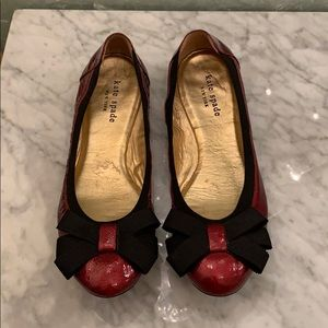 Kate Spade red patent flats